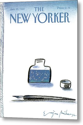 New Yorker January 25th, 1988 Metal Print by Eugene Mihaesco