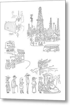 New Yorker January 27th, 1951 Metal Print by Saul Steinberg