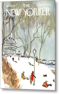 New Yorker January 27th, 1968 Metal Print