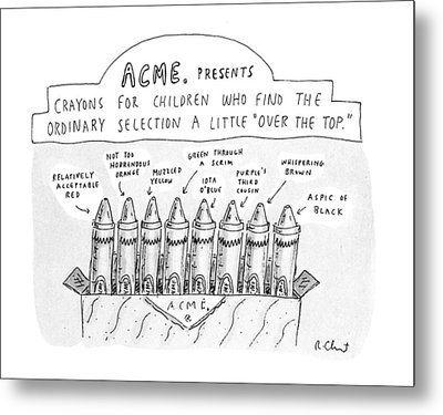 New Yorker January 27th, 1992 Metal Print by Roz Chast