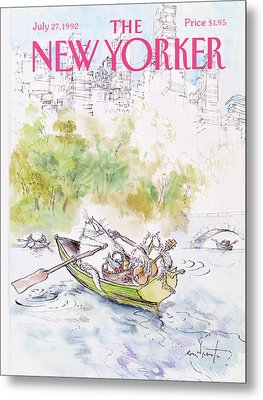 New Yorker July 27th, 1992 Metal Print by Ronald Searle