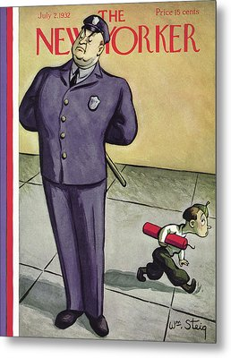 New Yorker July 2nd, 1932 Metal Print by William Steig
