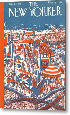 New Yorker July 4th, 1925 Metal Print by Ilonka Karasz