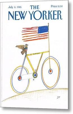 New Yorker July 8th, 1985 Metal Print by Saul Steinberg
