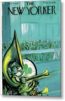 New Yorker March 18th, 1961 Metal Print by Arthur Getz