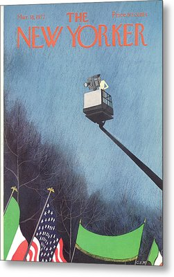 New Yorker March 18th, 1972 Metal Print