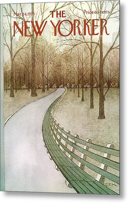 New Yorker March 24th, 1975 Metal Print by Charles E. Martin