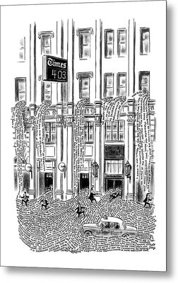 New Yorker March 29th, 1969 Metal Print by Robert J. Day