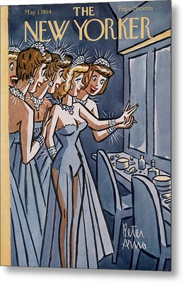 New Yorker May 1st, 1954 Metal Print by Peter Arno