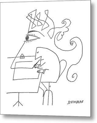 New Yorker May 4th, 1963 Metal Print by Saul Steinberg