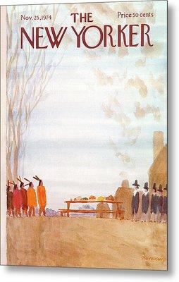 New Yorker November 25th, 1974 Metal Print by James Stevenson