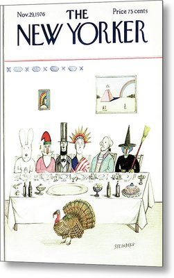 New Yorker November 29th, 1976 Metal Print