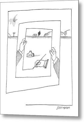 New Yorker November 30th, 1963 Metal Print by Saul Steinberg