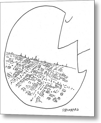 New Yorker October 29th, 1955 Metal Print by Saul Steinberg