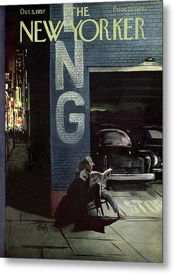 New Yorker October 5th, 1957 Metal Print by Arthur Getz