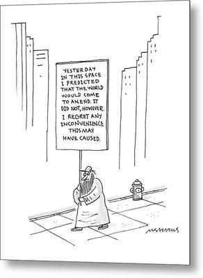 New Yorker October 9th, 1995 Metal Print