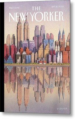 New Yorker September 15th, 2003 Metal Print by Gurbuz Dogan Eksioglu
