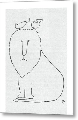 New Yorker September 21st, 1957 Metal Print by Saul Steinberg