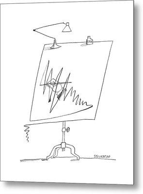 New Yorker September 7th, 1963 Metal Print by Saul Steinberg