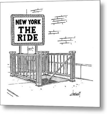 New York The Ride Metal Print