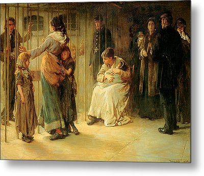 Newgate Committed For Trial, 1878 Metal Print by Frank Holl