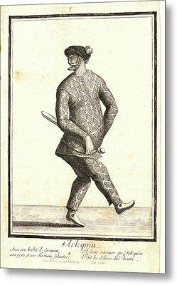 Nicolas Bonnart French, 1636 - 1718. Larlequin Metal Print by Litz Collection
