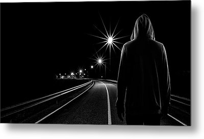Night Road Metal Print