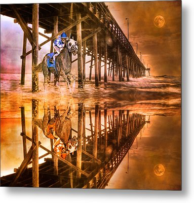 Night Run IIi Patriotic  Metal Print by Betsy Knapp