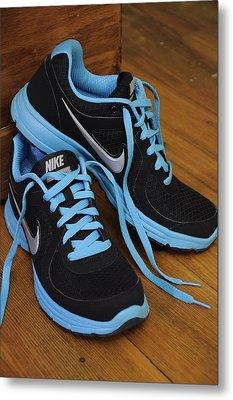Nike Shoes Metal Print by Nicole Berna