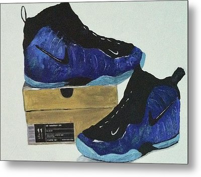 Nike's For Sale Metal Print by Helen Wendle