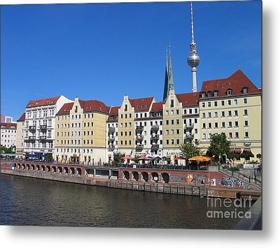 Metal Print featuring the photograph Nikolaiviertel And Alexanderturm by Art Photography