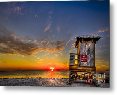 No Life Guard On Duty Metal Print
