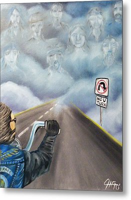 No U Turn Metal Print by The GYPSY And DEBBIE