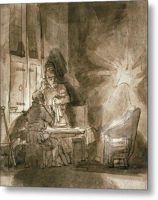 No.2139 Supper At Emmaus, C.1648-9 Metal Print by Rembrandt Harmensz. van Rijn