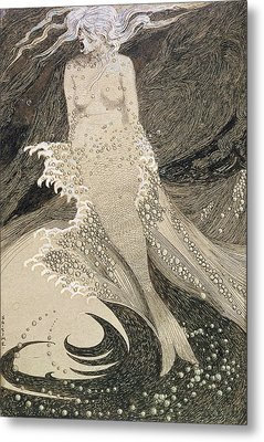 The Mermaid Metal Print by Sidney Herbert Sime