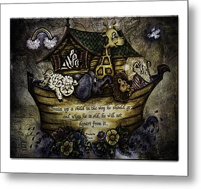 Noah's Ark Metal Print by La Rae  Roberts