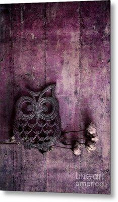 Nocturnal In Pink Metal Print