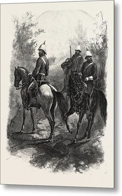 North-west Mounted Police, Canada Metal Print by Canadian School