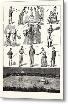 Notes At The Lawn-tennis Meeting For The Championship Metal Print