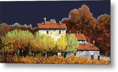 Notte In Campagna Metal Print by Guido Borelli
