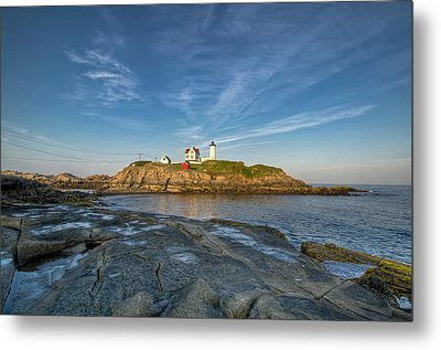 Nubble In Blue Metal Print by At Lands End Photography