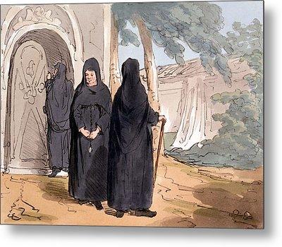 Nuns, 1804 Metal Print by John Augustus Atkinson