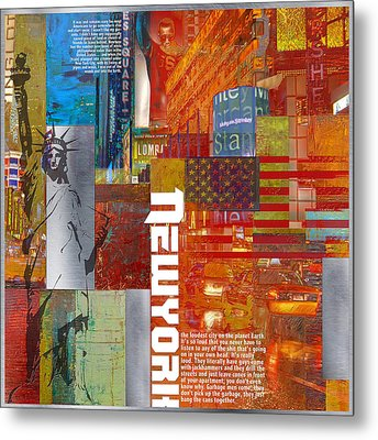 Ny City Collage 3 Metal Print by Corporate Art Task Force