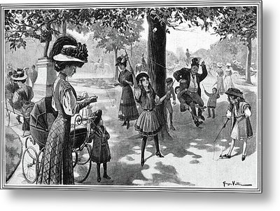 Nyc Central Park, 1900 Metal Print by Granger