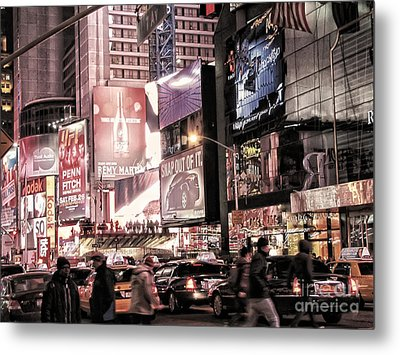Nyc - Times Square Metal Print by Jesse Forrister