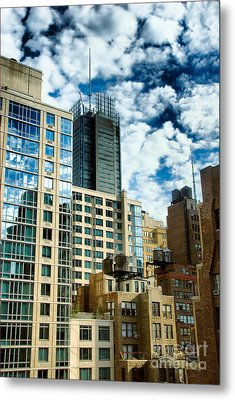 Nyc Urban Hdr Metal Print by Amy Cicconi