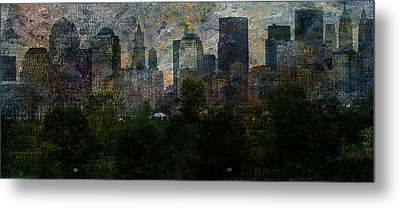 Nyc With Trees Metal Print by Bruce Rolff