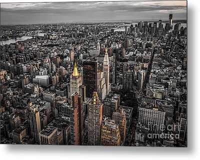 Nycs Golden Tops Metal Print by Hannes Cmarits