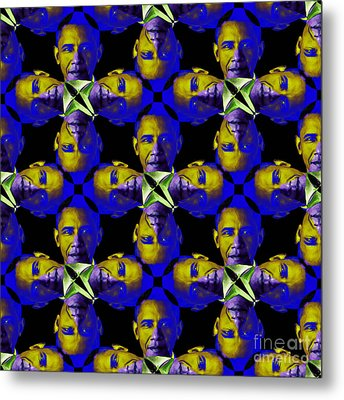 Obama Abstract 20130202m118 Metal Print by Wingsdomain Art and Photography