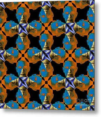 Obama Abstract 20130202p28 Metal Print by Wingsdomain Art and Photography